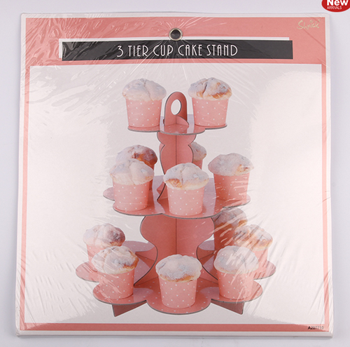 *3 Tier Coral Paper Cake Stand