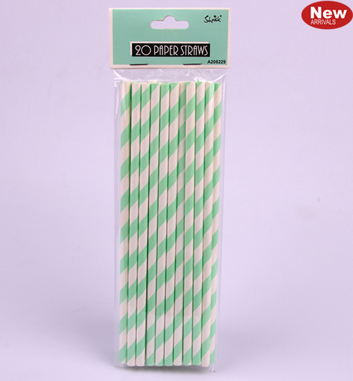 *20pk Mint Paper Straws