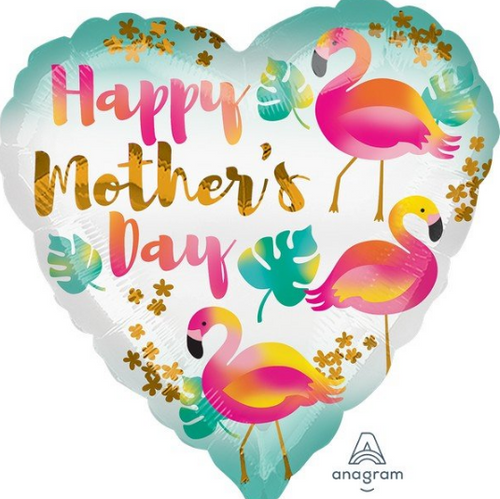18H Happy Mothers Day Flamingos S40