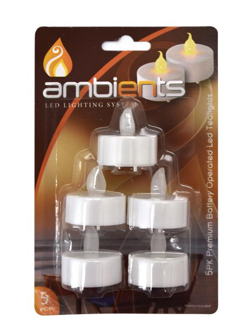 Battery Operated LED Tea Lights - 5PK