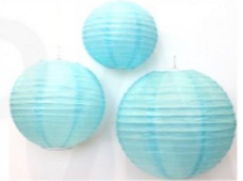 Round Lantern (8') (Light Blue)
