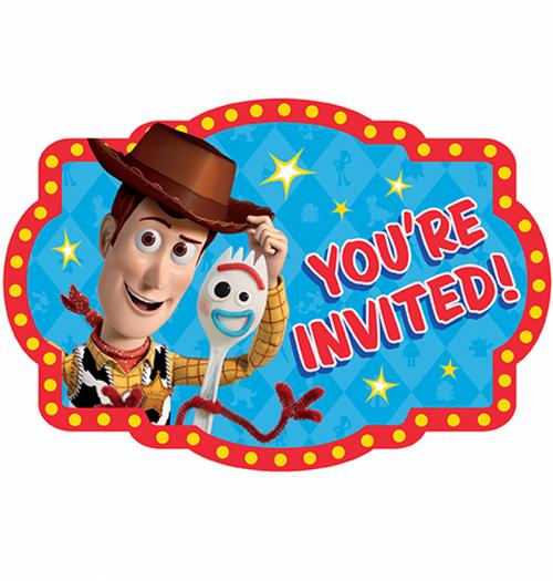 Toy Story 4 Postcard Invitatio