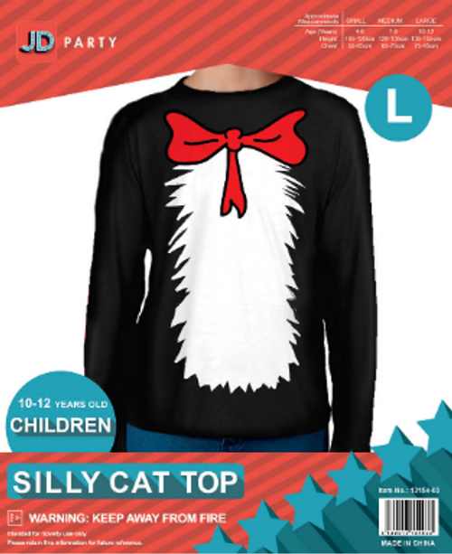 Children Silly Cat Top (L)