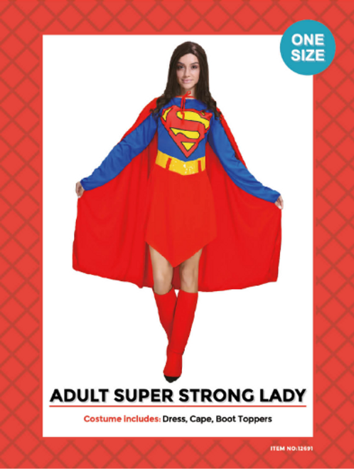 Adult Super Strong Lady Cosutme