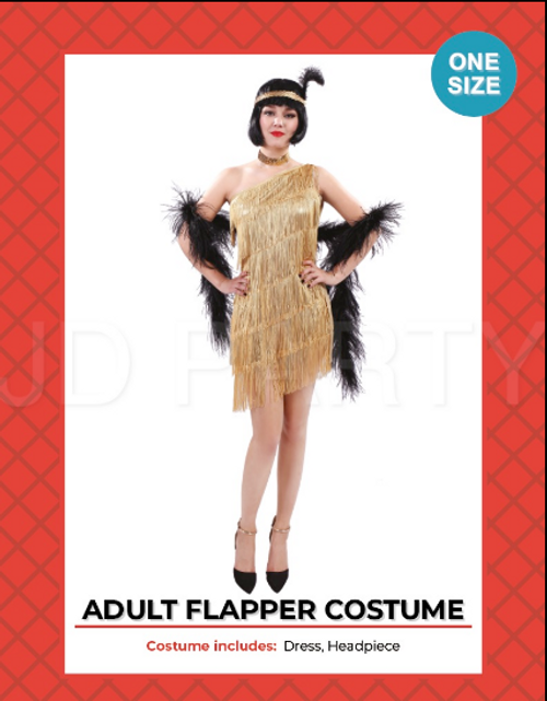Adult Gold Flapper Costume