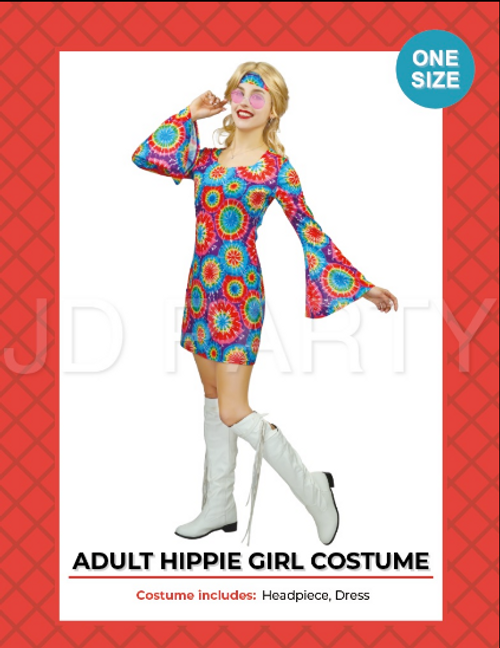 Adult Hippie Women Costume new