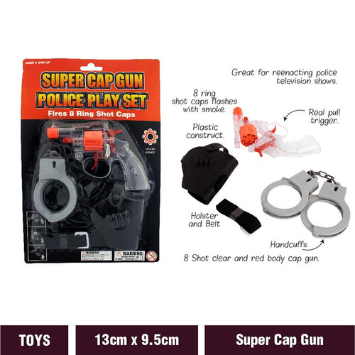 Cap Gun Police Super Play Set