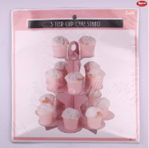 *3 Tier Pink Paper Cake Stand