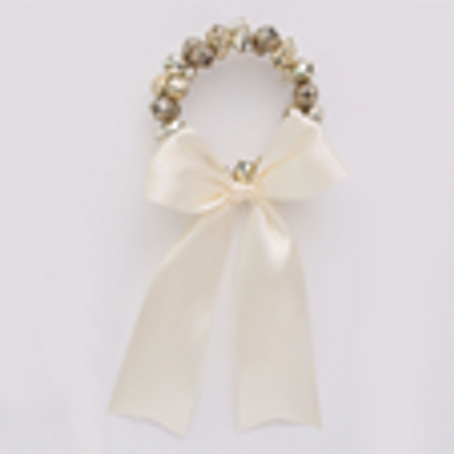 SKU434 15CM Champagne Bell Wreath with Ribbon