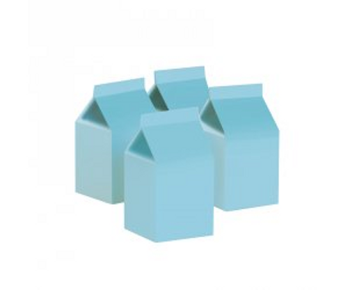 FS Milk Box Pastel Blue 10pk