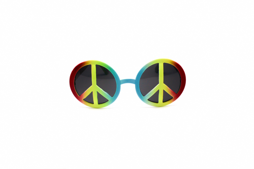 PARTY GLASSES PEACE SIGN RAINBOW