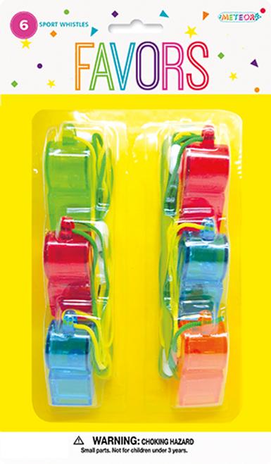 6 Sports Whistles M4031
