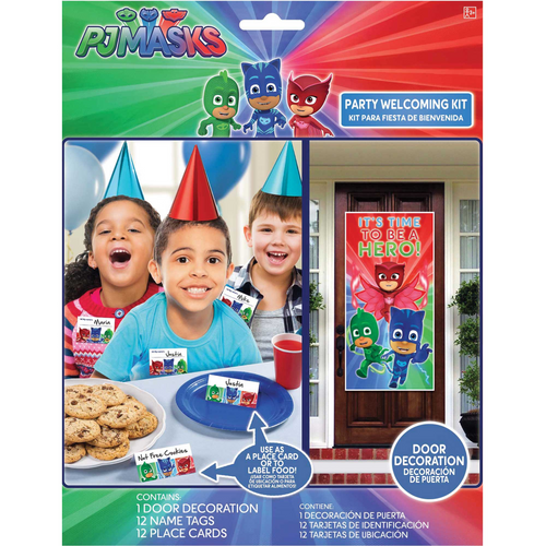 Pj Masks Decoration Name Tags and Place Card Set