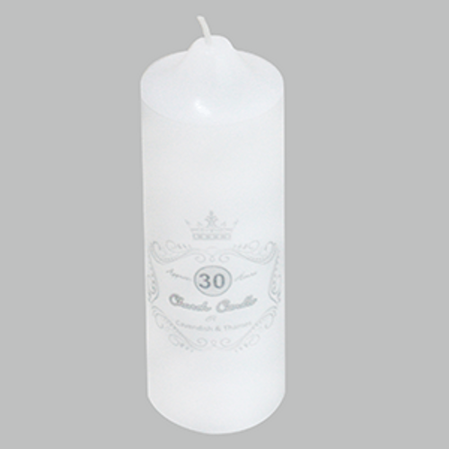 5CM X 15CM UNSCENTED WHITE CANDLE