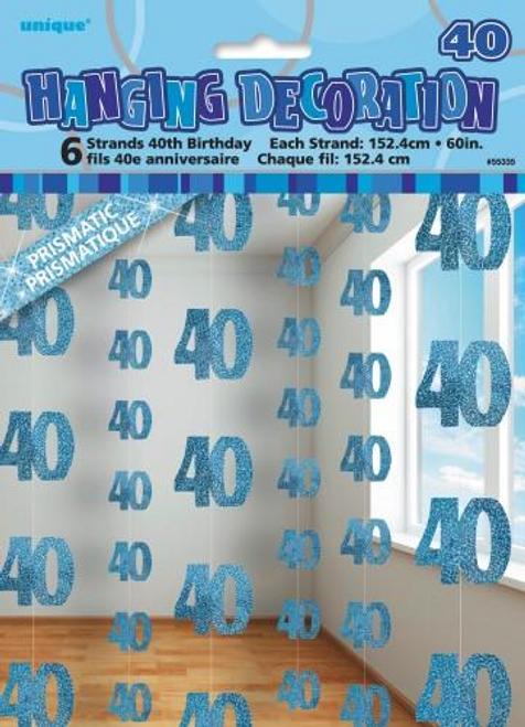 40 hanging swirls