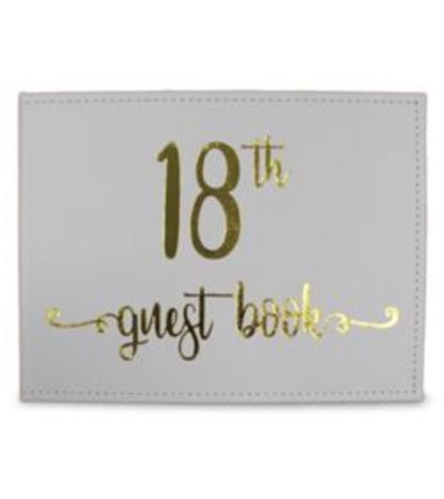 18 gold guest book