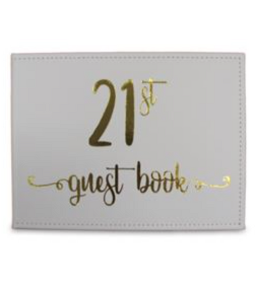 21ST GUEST BOOK gold