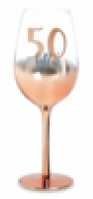 50 ROSE GOLD STEM WINE GLASS OMBRE