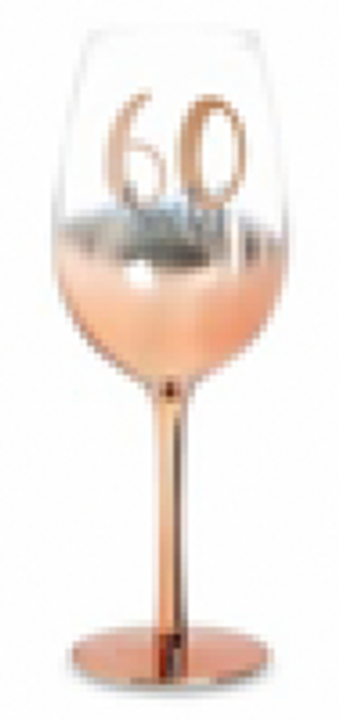 60 ROSE GOLD STEM WINE GLASS OMBRE