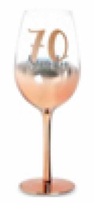 70 ROSE GOLD STEM WINE GLASS OMBRE