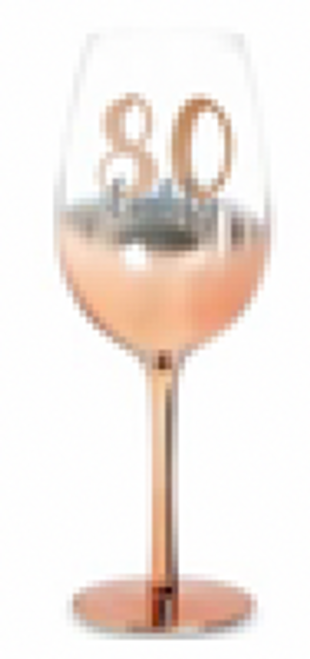 80 ROSE GOLD STEM WINE GLASS OMBRE