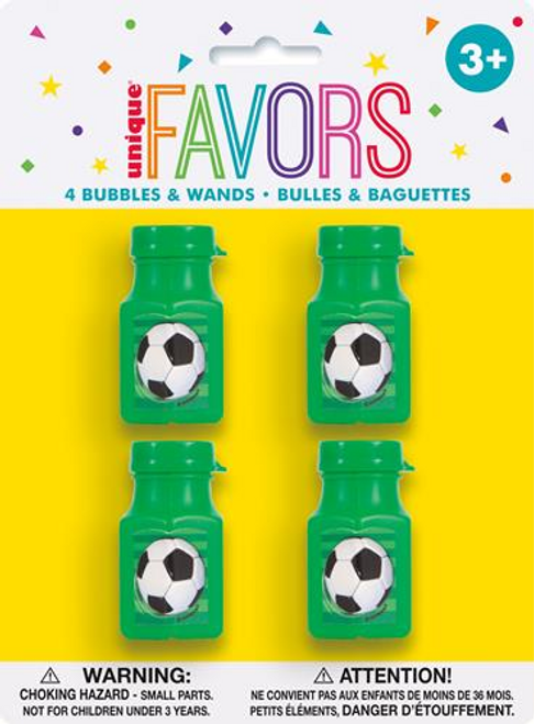3D SOCCER 4 BUBBLE BOTTLES