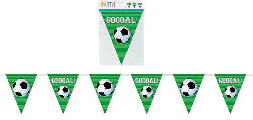 3D SOCCER 12ft FLAG BANNER