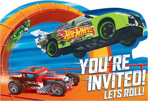 Hot Wheels Wild Racer PCard Invites