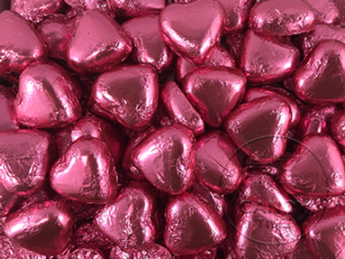 Hot Pink Chocolate Hearts 1kg