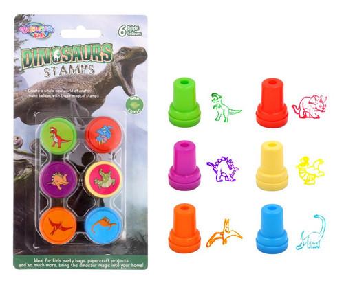 6PK Fun Stamps - Dinosaur Series