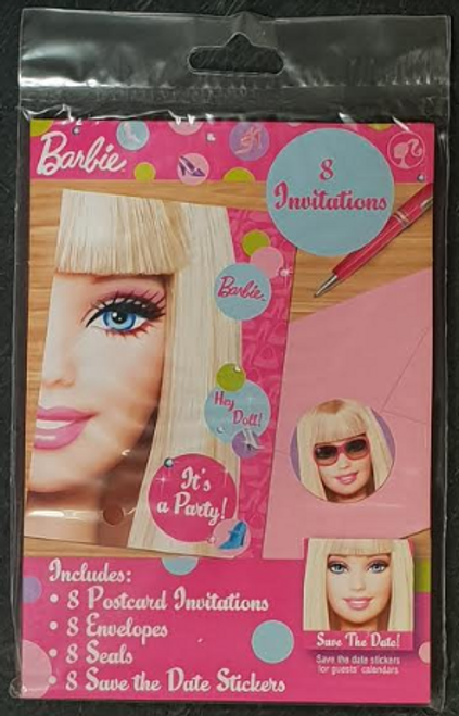 Barbie All Doll'd Up PCard Invites