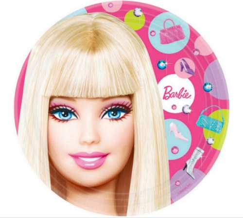 Barbie All Doll'd Up 7in/17cm Rnd Plates