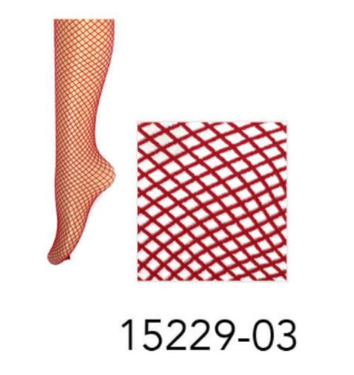 Fishnet Pantyhose (Red )