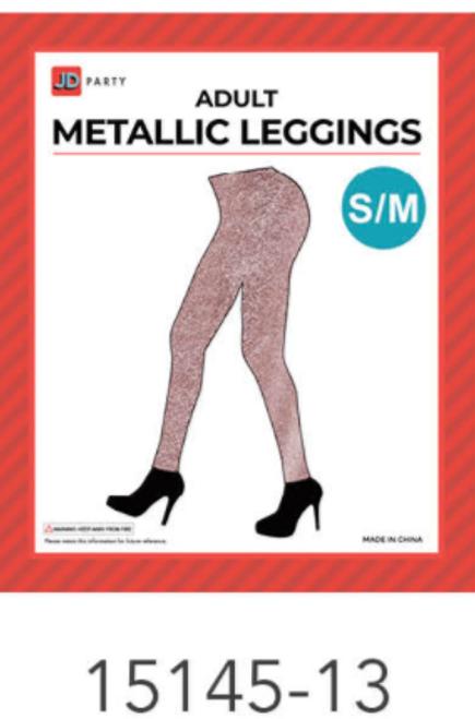 Adult Metallic Leggings (S/M) (Rose Gold)