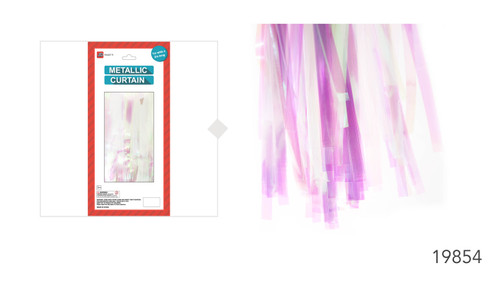 Deluxe Clear Holographic Metallic Curtain