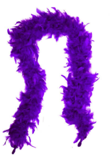 Feather Boa (Dark Purple)