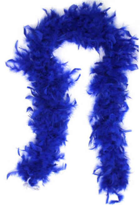 Feather Boa (Dark Blue)