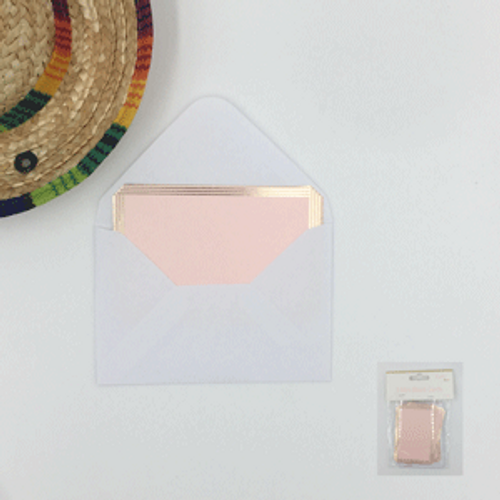 3pk Pink Mini Blank Cards with envelopes (6cm x 9cm)
