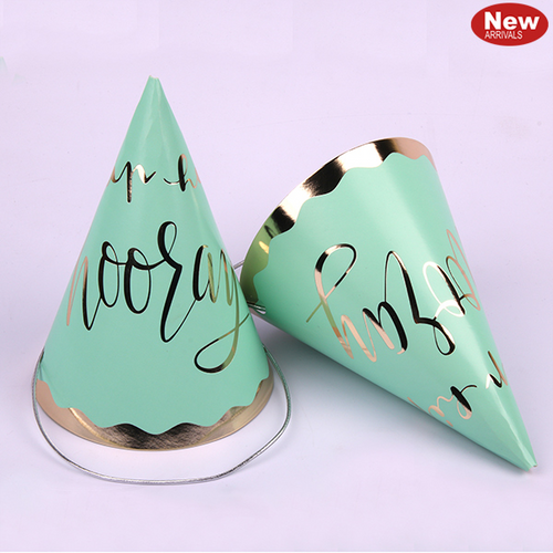 4pk Luxe Mint Party Hats