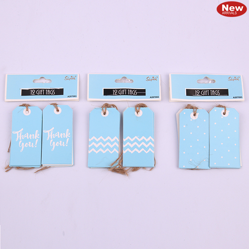 12pk Blue Gift Tags