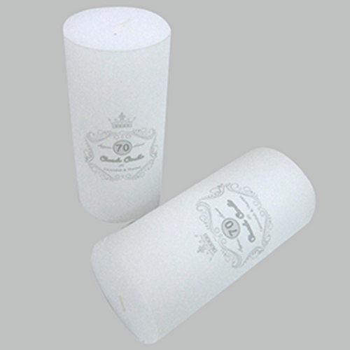 7cm*15cm UNSCENTED WHITE PILLAR CANDLE