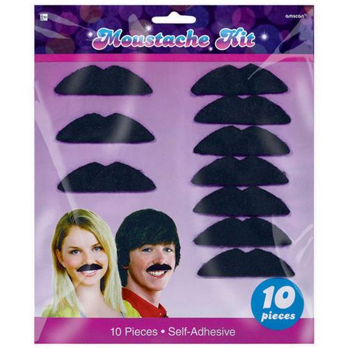 Disco Fever Moustaches Blk Felt
