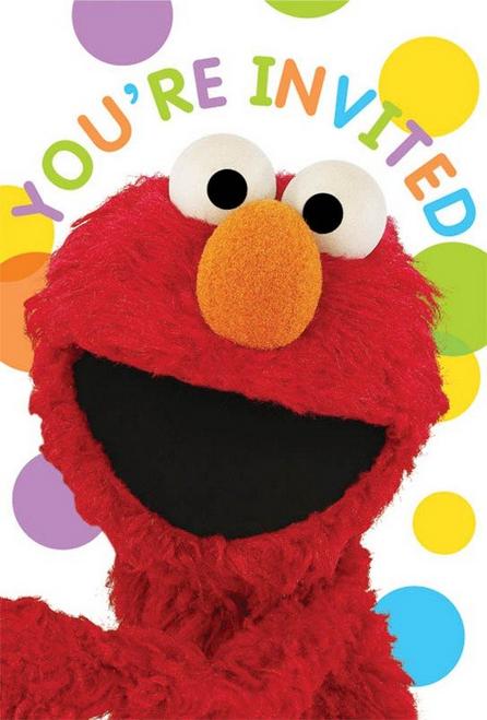 Sesame Street PCard Invites*