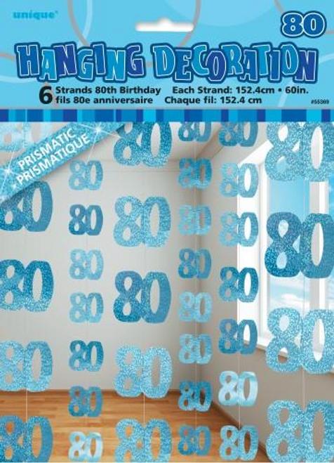 GLITZ BLUE 6 HANG DECO 5ft -80