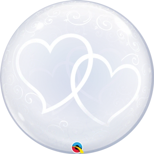 """24"""" DECO BUBBLE ENTWINED HEARTS"""