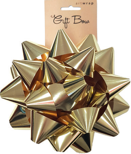 BOW LRG STAR MET GOLD
