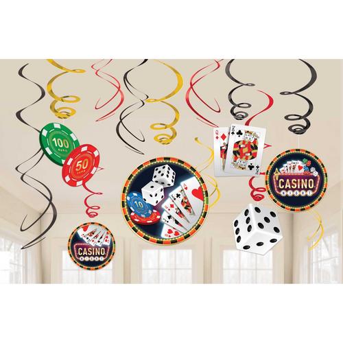 Roll The Dice Casino VP Foil Swirl Decoration