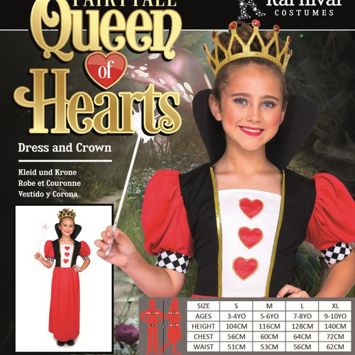 FAIRYTALE QUEEN OF HEARTS SIZE L