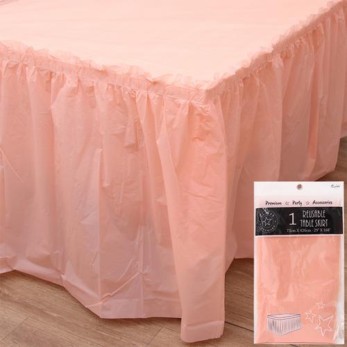 426CM TABLE SKIRT-CANTALOUPE