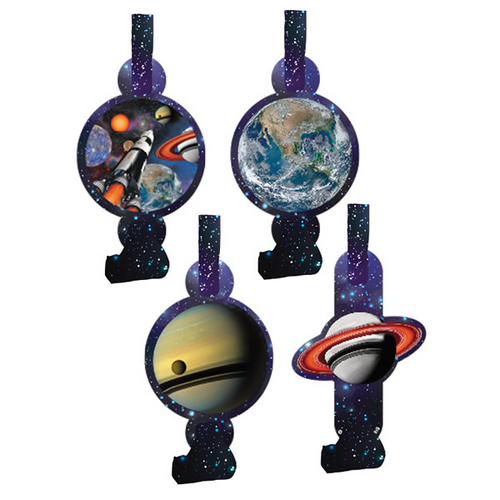 Space Blast Blowouts with Asst Medallions